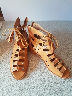 Sergio Todzi Roman Sandals cognac-coloured