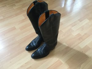 Western Boots black leather