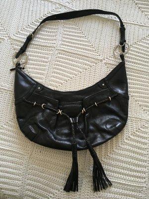 DKNY Sac seau noir cuir
