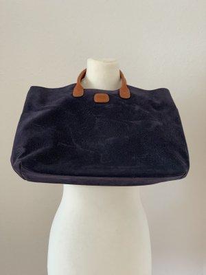 Bric's Carry Bag dark blue-cognac-coloured