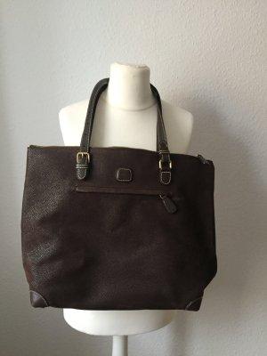 Edle dunkelbraune Bric's Handtasche