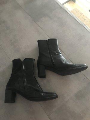 Edle Echt Leder Stiefelette schwarz Gr 43 Np 229