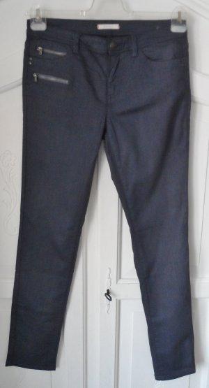 edle Esprit Stretch Hose Gr. 38 beschichtet Dunkelblau nur 1 x getragen