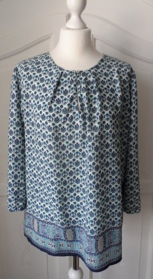 Esprit Tunique-blouse bleu foncé-bleu azur coton