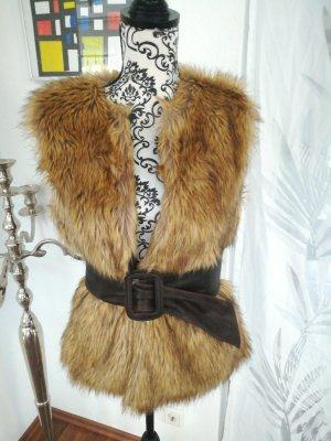 Yessica Fake Fur Vest multicolored