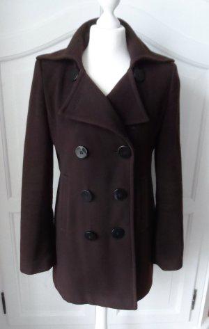 Fuchs Schmitt Chaqueta de lana marrón oscuro tejido mezclado