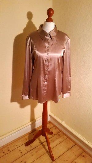 edle, glänzende Bluse von Madeleine, bronze, Gr.40