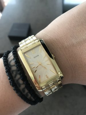 edle goldfarbene Guess Uhr