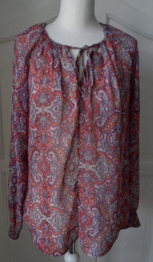 edle H&M Chiffon Tunika mit Paisley Muster Gr. 40 Bunt wenig getragen