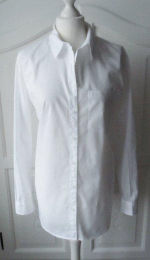 edle H&M L.O.G.G. Long Bluse Gr. 40 weiß wenig getragen