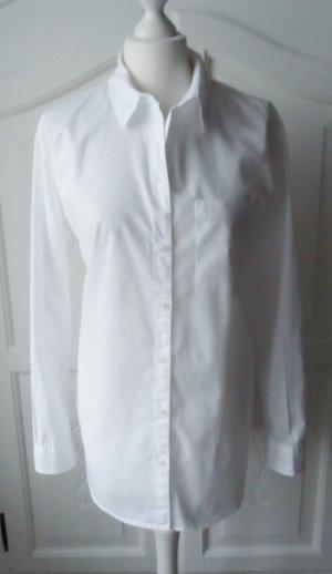 H&M Camicetta lunga bianco Cotone