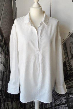 H&M L.O.G.G. Blouse oversized blanc tissu mixte
