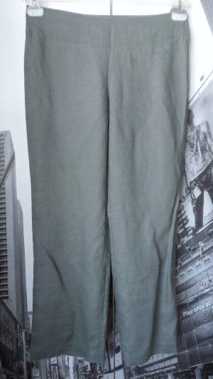 H&M Pantalón de lino caqui Lino