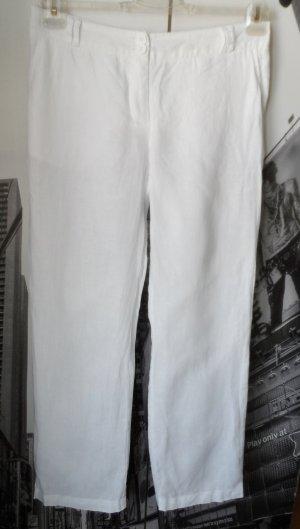H&M Pantalón de lino blanco Lino
