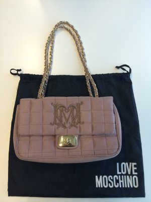 Edle Handtasche Love Moschino in Mauve