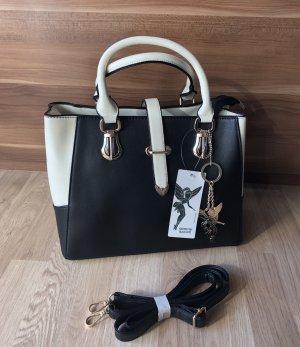 Edle Handtasche  von Kossberg in schwarz / weiß