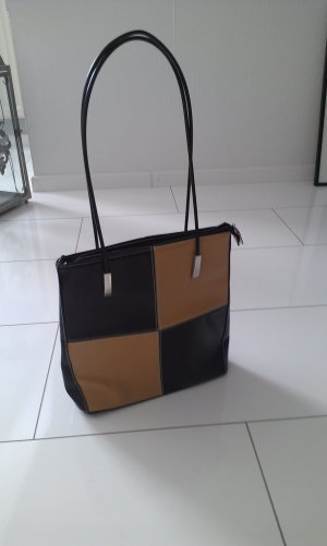 edle Harpa Tasche in schwarz beige