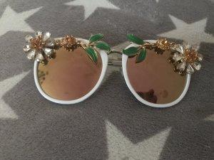 Edle Hippie Sonnenbrille mit Blumen und Steinen besetzt 89€