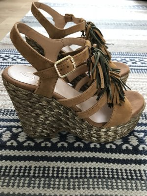 Kanna Wedge Sandals multicolored