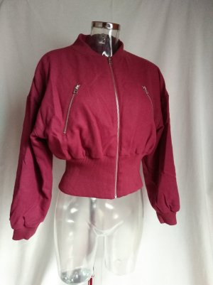 Adidas Chaqueta bomber rojo oscuro-carmín