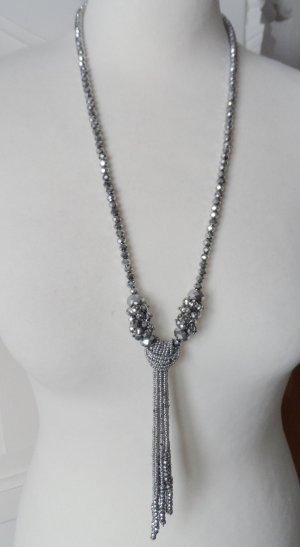 Collar color plata vidrio