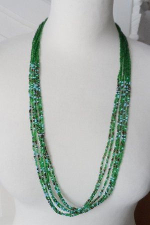 Necklace grass green-forest green glas