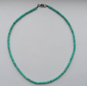 Necklace turquoise mixture fibre