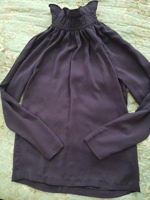 Edle königliche Bluse mit Stehkragen,violett,Gr.38