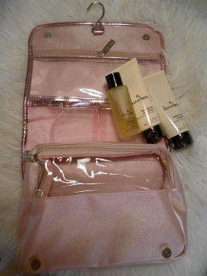 Borsa da viaggio rosa pallido-oro Materiale sintetico