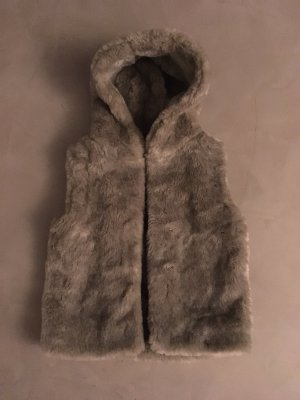 Vest van imitatiebont room-beige Acryl