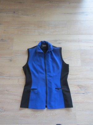 Edle Kurzärmel Weste in Blau und Schwarz  Gr. 40