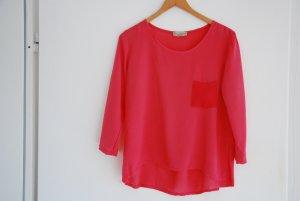 Edle, lässige Bluse aus Italien in pink
