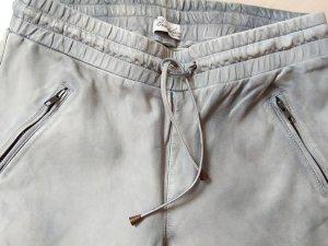 Brandalism Pantalone in pelle argento Pelle