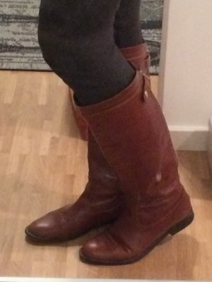 Jonak Riding Boots brown red leather