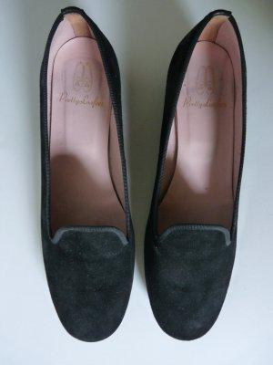 Pretty Loafers Zapatos formales sin cordones negro-rosa Cuero