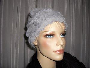 Cappello da panettiere argento Mohair