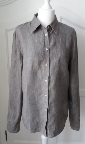 edle Marc O'Polo Leinen Bluse Gr. 42 Graubraun wenig getragen