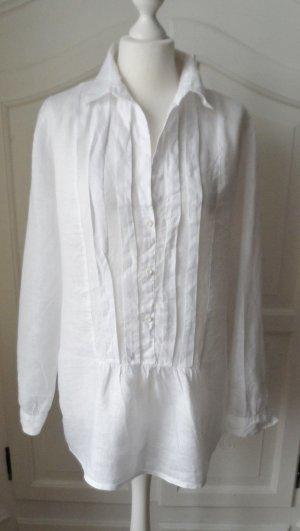 edle Marc O'Polo Leinenbluse Weiß Gr. 40 nur 1 x getragen