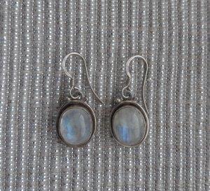 edle Ohrringe aus 925 Sterlingsilber mit Mondstein wenig getragen
