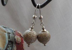 edle Ohrringe Glitzerkugeln aus 925 Sterlingsilber wenig getragen