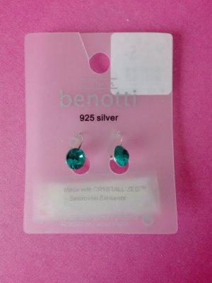 Edle Ohrringe in Blau-Grün/ 925 Silber - Neu mit Etikett