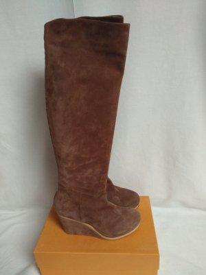 unnützer Overknees light brown-nude leather