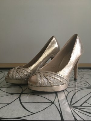 Edle Peeptoes im Metallic-Look