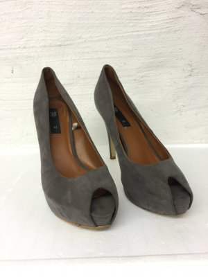 Edle Peeptoes Pumps in grau, Businesslook