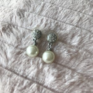 Pearl Earring silver-colored-cream