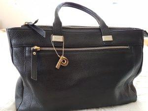 Edle Picard Handtasche aus Leder mit goldenen Details, absolut neuwertig !