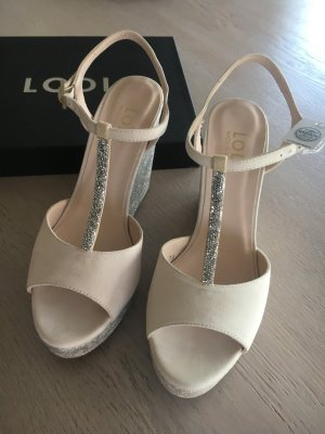 Lodi Wedge Sandals natural white-cream