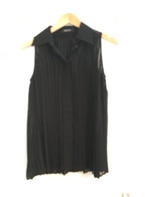Edle Plissée Taifun Collection Bluse 38 schwarz Casual Chic Feiertage Büro