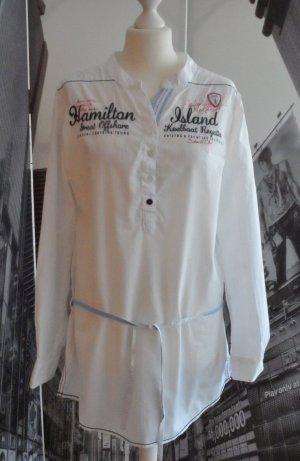 edle ROADSIGN Australia Tunika / Long Bluse Gr. L Weiß wenig getragen