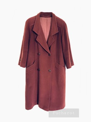 Edle rostrot rostbraun Fuchsrot Jacke Mantel lang woll wollmantel elegant | Vintage | 42-44 oversize